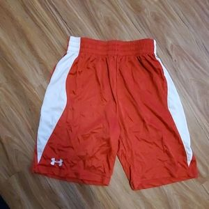 Youth red/white Under Armour elastic waist Shorts